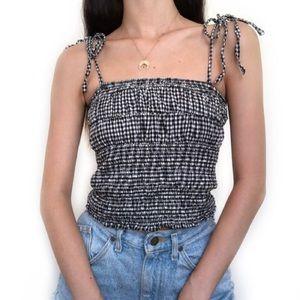 Zara gingham tank top